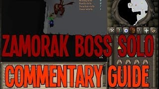 RS 2007 - Live Commentary Solo Guide for the Zamorak Boss in Old School Runescape!