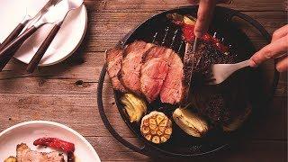 【鑄鐵鍋燒烤????】派對必備!無敵美味香料烤豬梅花