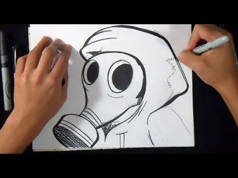 Wie Zu Zeichnen Gasmaske Graffiti Youtube