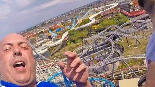 Chris Poole ATTEMPTS to give DARTS PREVIEW on U.K's TALLEST ROLLERCOASTER 🎯