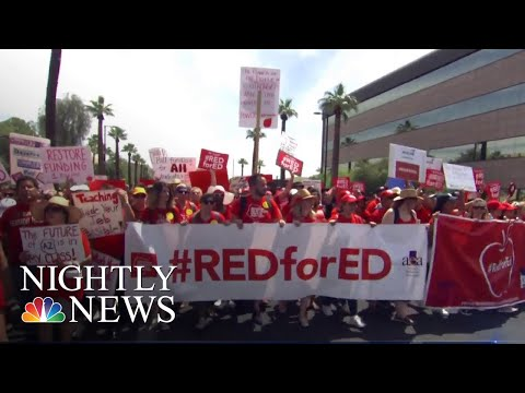 Thousands Of Arizona Teachers Protest For Better Education Funding | NBC Nightly News