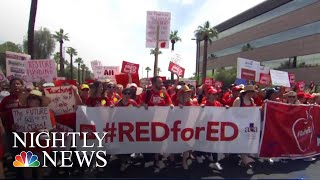 Thousands Of Arizona Teachers Protest For Better Education Funding   NBC Nightly News