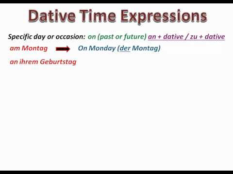 Using time expressions in German - www.germanforspalding.org