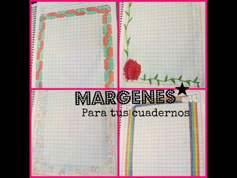 como hacer margen para cuaderno facil