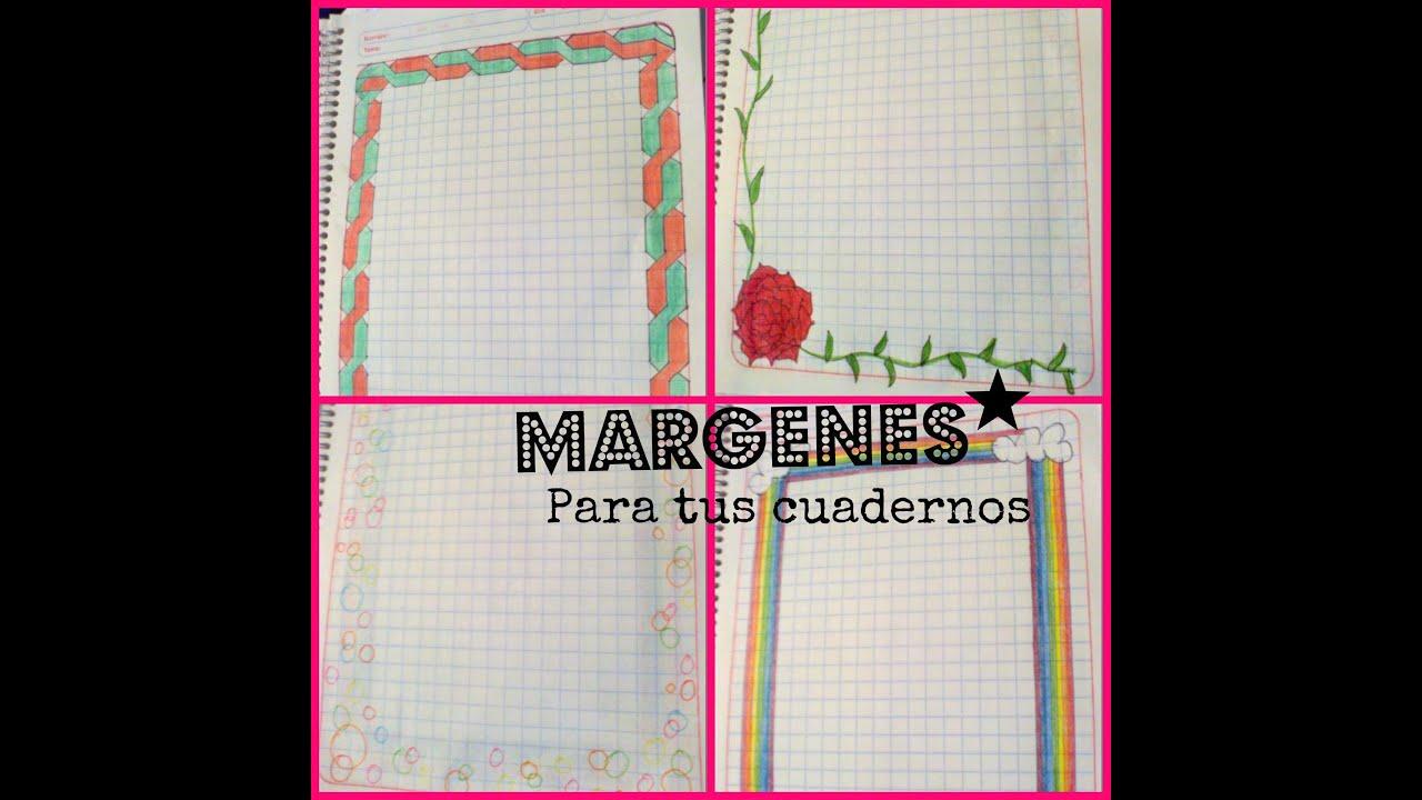 Ideas De MÁrgenes Para Decorar Cuadernos Y Libretas: Márgenes Para Tus Cuadernos ⚝