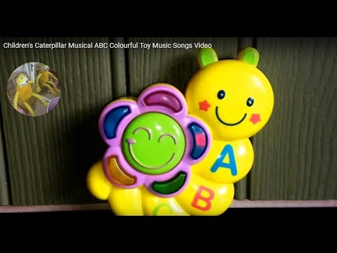 Children's Caterpillar Musical ABC Colourful Toy Music Songs Video