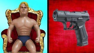Experiment - Schreckschuss Pistole vs Stretch Armstrong