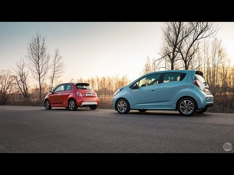 Электромобили. Fiat 500 electric vs Chevrolet Spark EV Тест-Драйв.#YouCar. Lavrik