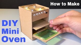 How to Make Oven from Cardboard (Doll House) - DIY Realistic Miniature Oven