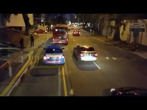 Singaapore 166 Bus Route from China Town to Kanpong Bahru, September 22, 2015