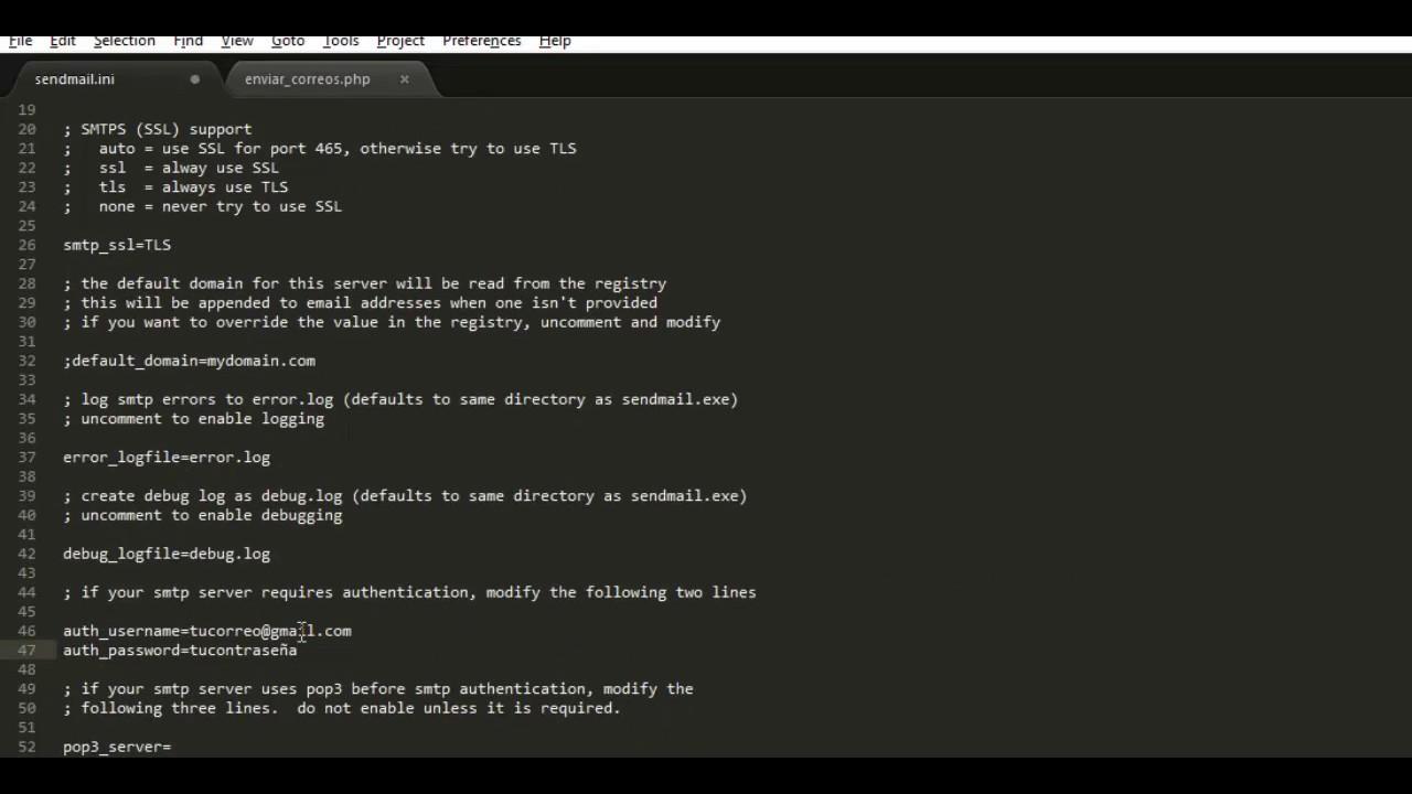 Enviar correos desde php con la funcion mail() en localhost con ...