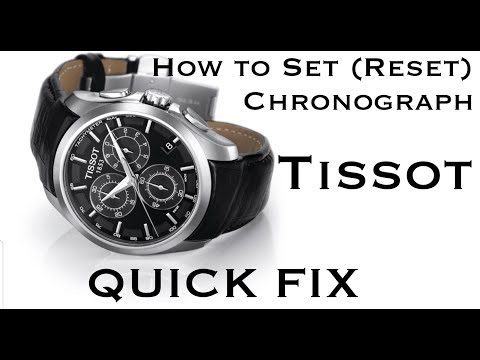 How To Set (Reset) Chronograph Hands On A TISSOT Watch | QUICK FIX