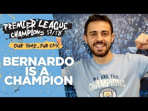 I WON THE LEAGUE IN MY PYJAMAS  Bernardo Silva   Premier League Champions 1718