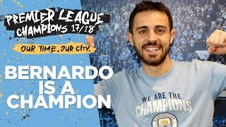 I won the league in my pyjamas | bernardo silva interview | premier league champions 17/18