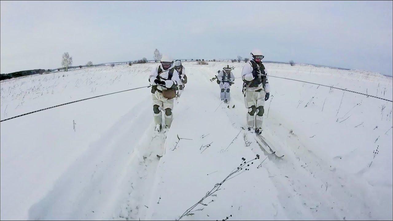 Тренировка лыжной и огневой подготовки мотострелков ЦВО