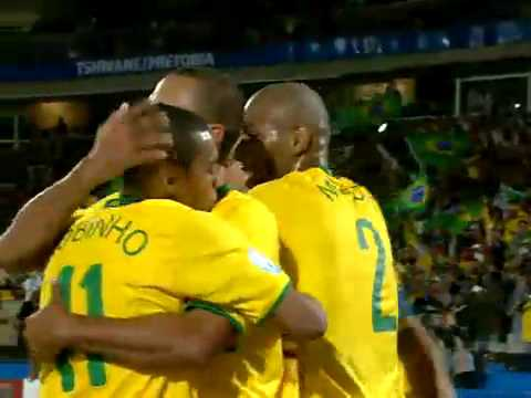 Goal do Brasil! Luis Fabiano [ Brazil x  Italy  ] Confederations Cup South Africa 2009 FIFA