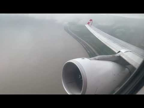 Air Asia X Airbus A330-300 Roaring Takeoff From Shanghai Pudong Airport