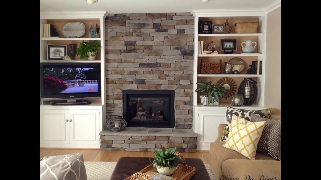 Bookshelf Cabinet on Either Side of Fireplace - YouTube