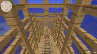 roller coaster 360 degree   minecraft