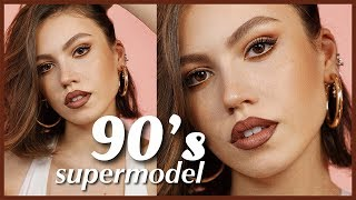90'LAR SÜPER MODEL MAKYAJI | 90s SUPERMODEL MAKEUP TUTORIAL