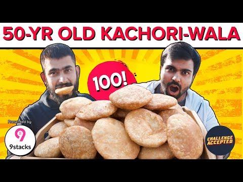 EXTREME Kachori Eating Challenge ft. TheAachaladka   Jung Bahadur Kachori   Challenge Accepted #42