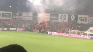 Brand in vak Antwerpen tijdens promotiematch op Roeselare
