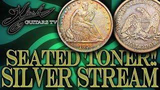 SILVER STREAM #82 1843 SEATED LIBERTY HALF TONER + BITCOIN!