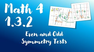 Math 4 - 1.3.2 - Even and Odd Symmetry Tests