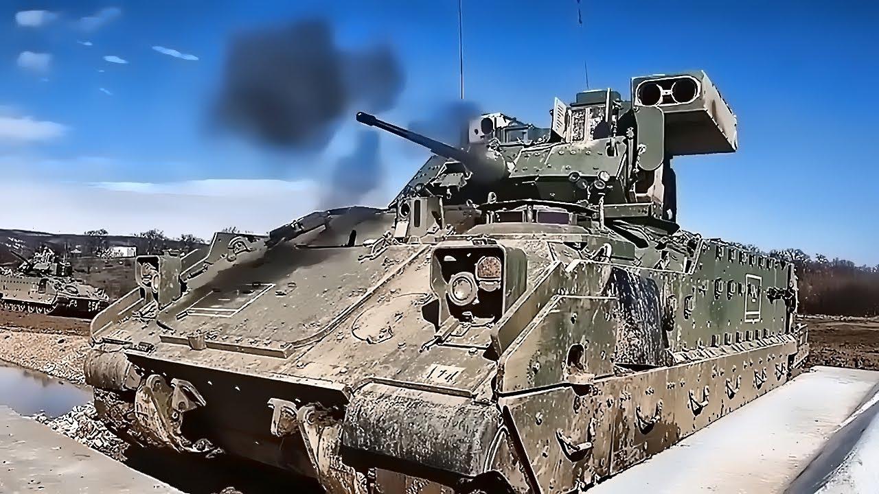 M2 Bradley Fighting Vehicles • Gunnery Training In Bulgaria