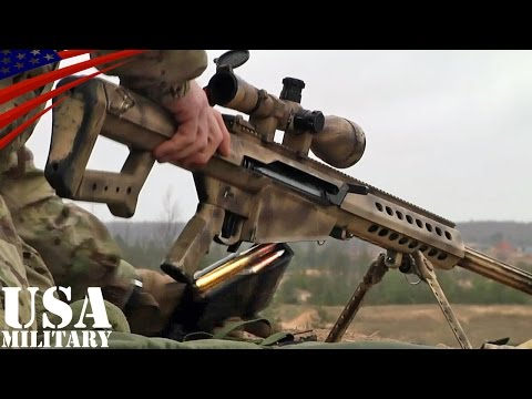 50口径スナイパーライフル狙撃・バレットM82 - .50 Caliber Sniper Rifle Shot - Barrett M82