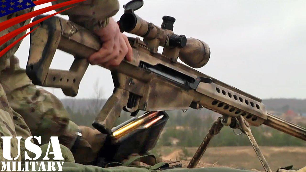 50口径スナイパーライフル狙撃 バレットm82 50 caliber sniper rifle