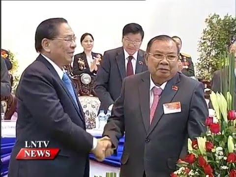 Lao NEWS on LNTV: 10th Congress ends announcing new Party leaders, adopts resolution.22/1/2016