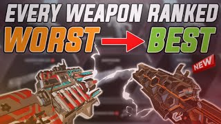 EVERY WEAPON ON APEX LEGENDS WORST TO BEST