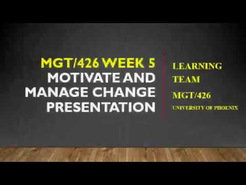 mgt 426 week 5 motivate and manage change presentations youtube