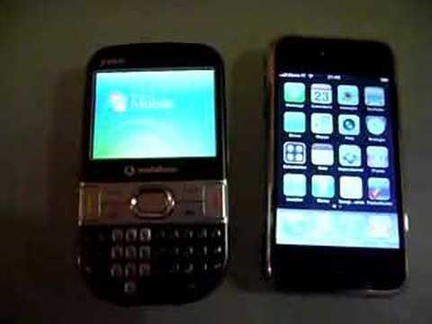 Confronto accensione IPhone e Treo 500