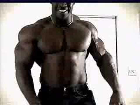 Giant black muscle - black bodybuilder