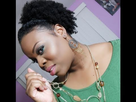 two twists & puff hairstyle