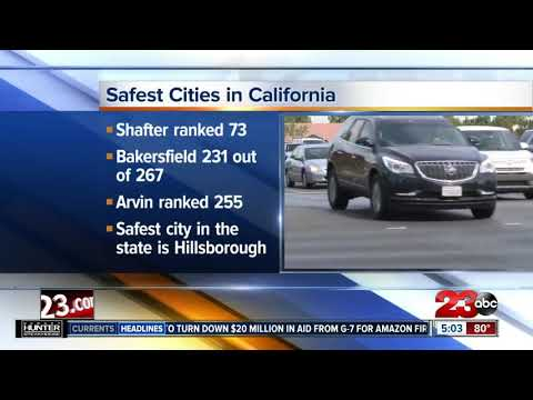 Bakersfield Ranks Near The Bottom Of List Of Safest Cities In California