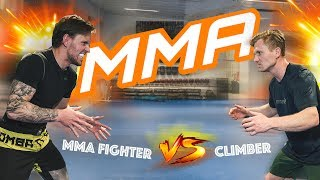 CLIMBER CHALLENGES MMA FIGHTER | #160