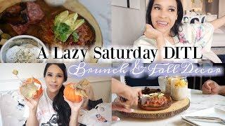 A Lazy Saturday DITL VLog - Brunch & Fall Decor - MissLizHeart