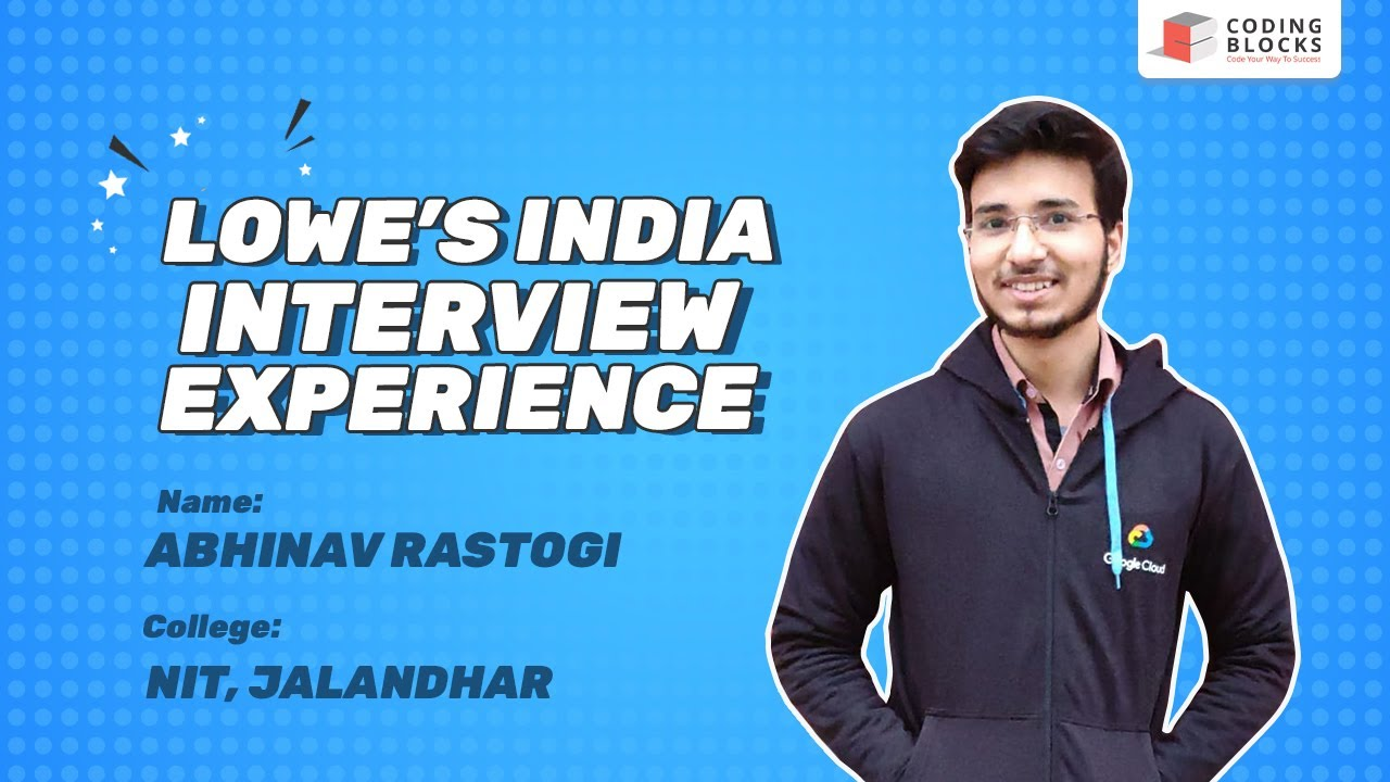 How to get into Lowe's India and get a 19L CTC? Interview Experience l Success Story