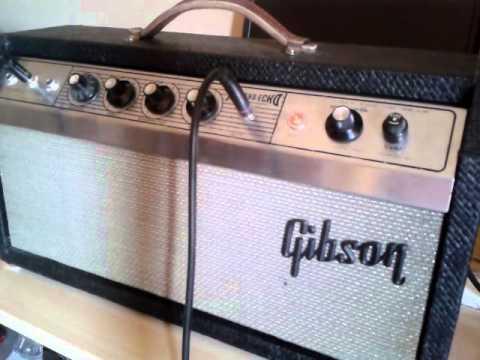Demo of a Gibson Reverb-echo GA4-RE oilcan Tel Ray slap ...
