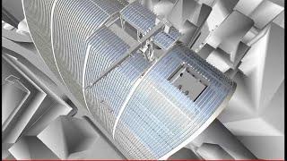 Thiết bị bảo trì tòa nhà (BMU)- Uniton Việt Nam - 3D animation