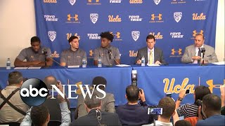 UCLA basketball players apologize for international incident