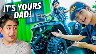 SURPRISING Dad With A Brand New ATV! 500k? (Emotional) | Ranz and Niana