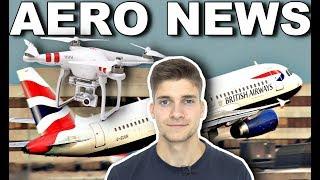 DROHNEN legen FLUGHAFEN lahm! LONDON GATWICK! AeroNews