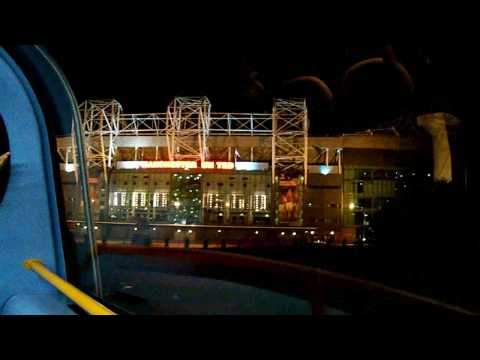 Manchester United Old Trafford by night - Teatr Marzeń nocą