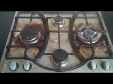 04 Как отмыть газовую плиту - How to Clean Stainless-Steel Cooktops