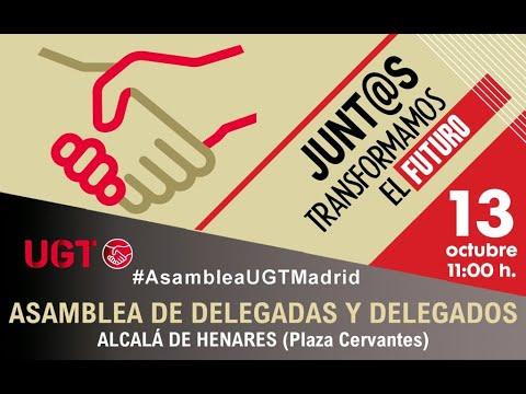 """Asamblea de delegadas y delegados de UGT """"Junt@s transformamos el futuro"""" en Alcalá de Henares"""