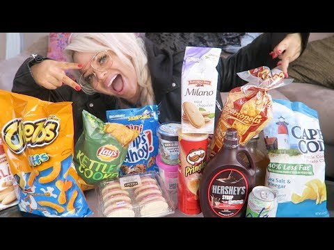 what I eat on my period 2 (mukbang)   junk food eating show
